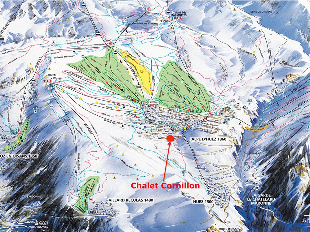 Chalet-Cornillon-on-Piste-Map - Chalet Cornillon | Holiday ...