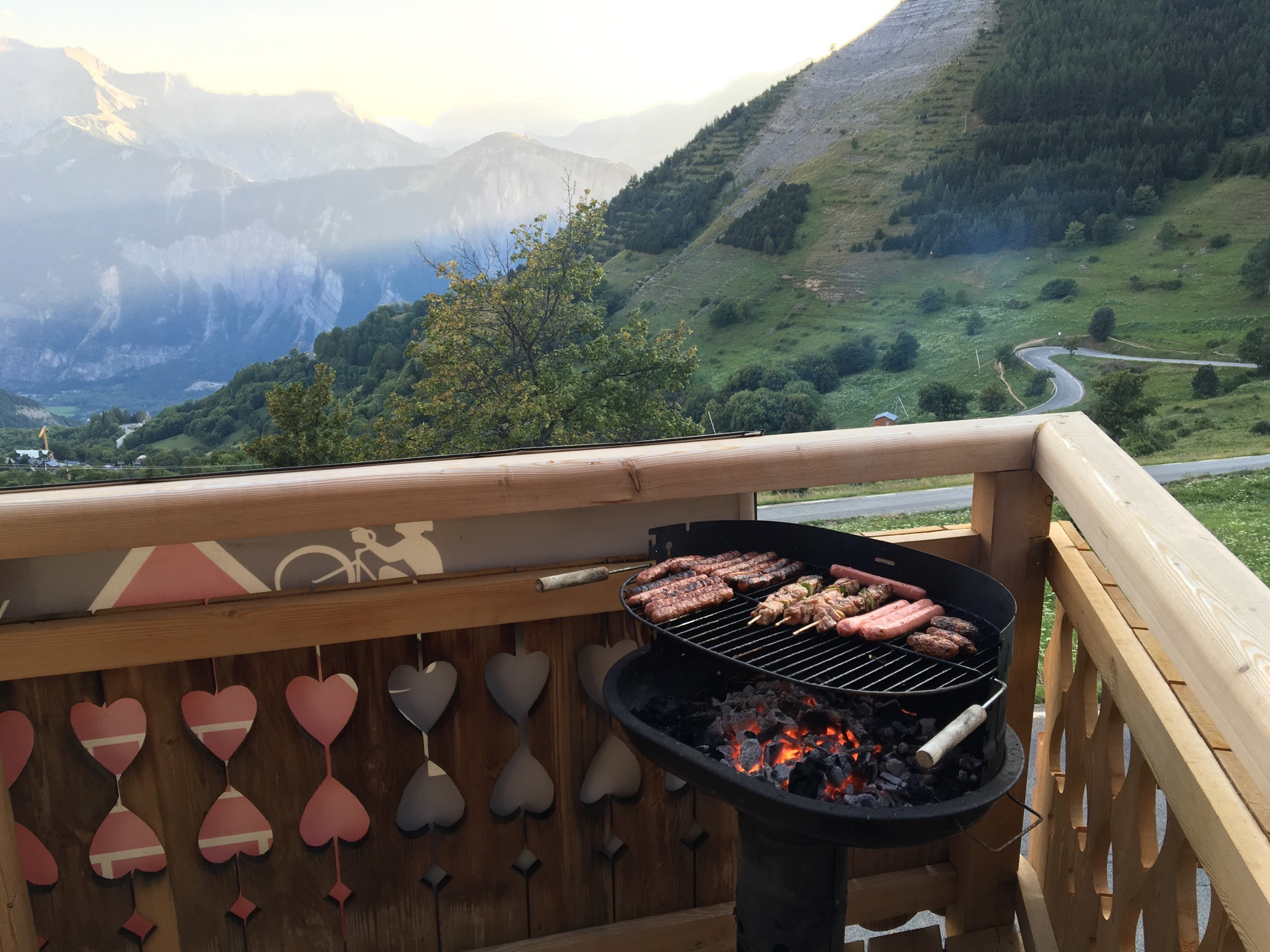 Balcony with BBQ
