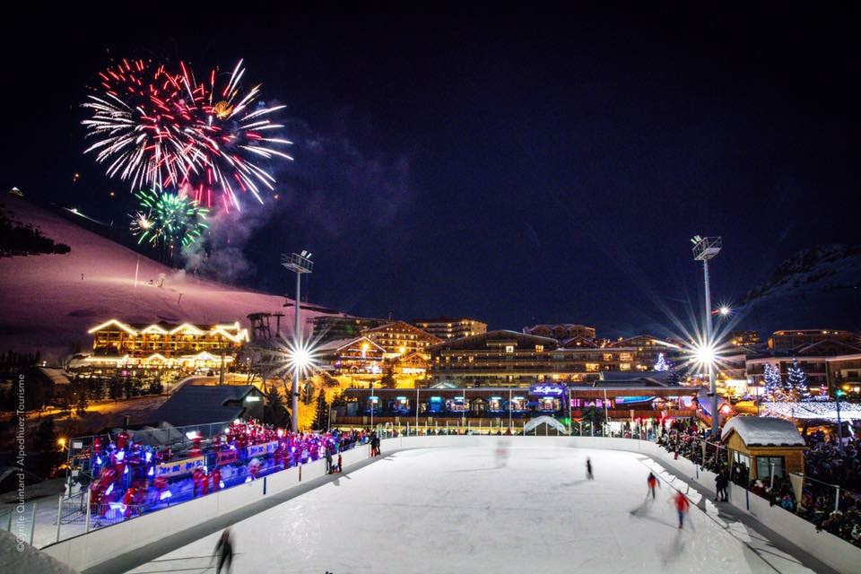 Ice Rink & Fireworks on Xmas Eve