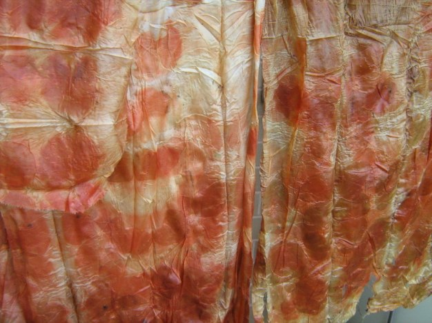 finished eco dying on silk