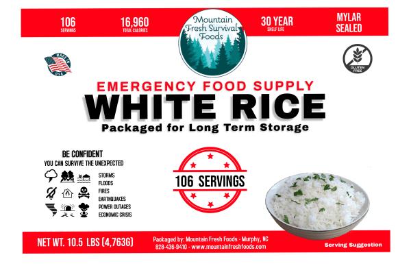 White Rice 10.5 Lbs
