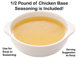Chicken Soup Base Seasoning 1/2 pound is included