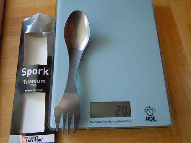 titanium spork by light my fire