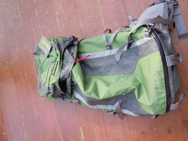 Note the waterproof zip at the bottom. It is also minimalist without excess weight-adding webbing or pockets.