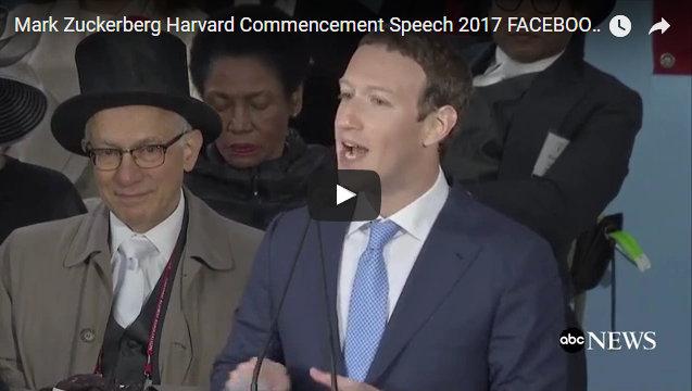 Mark Zuckerberg Delivers Harvard Commencement Address