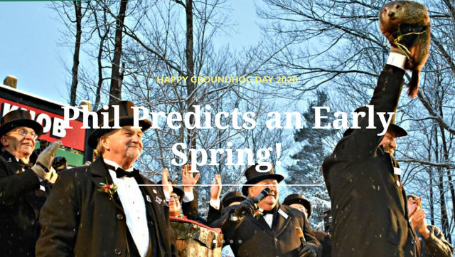Punxsutawney Phil Predicted an Early Spring on Gobbler's Knob