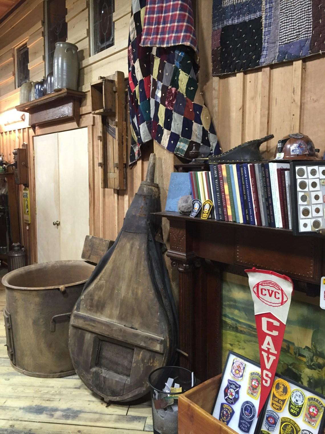 Salt Cauldron and Bellows, Local Quilts