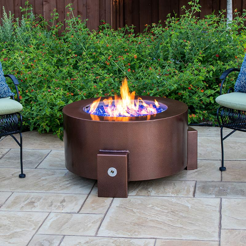 bent into shape fire pit collection