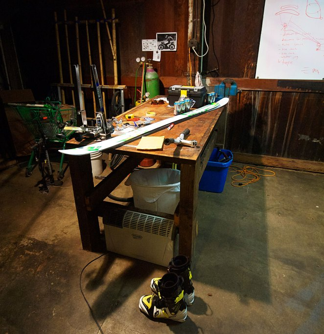 mounting skis at home with dynafit using simple tools