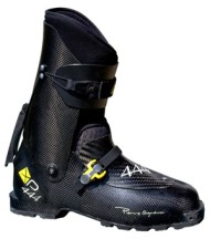 The world's lightest ski boot, the Pierre Gignoux XP-444.  590g. You don't need these.
