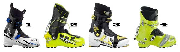 Lightweight alpine touring boots