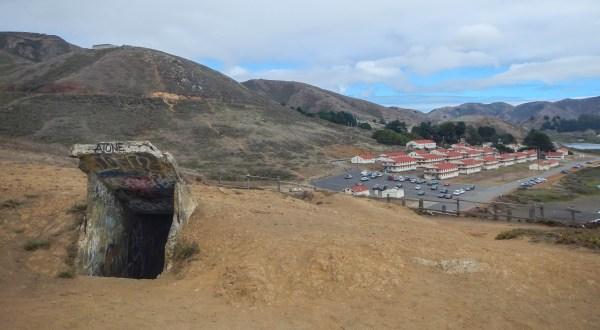 Bunker, with barracks below.