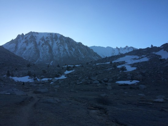 We began our Mt Whitney summit attempt in the early hours of May 25th.