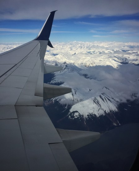 Descending into Anchorage over the Chugach.