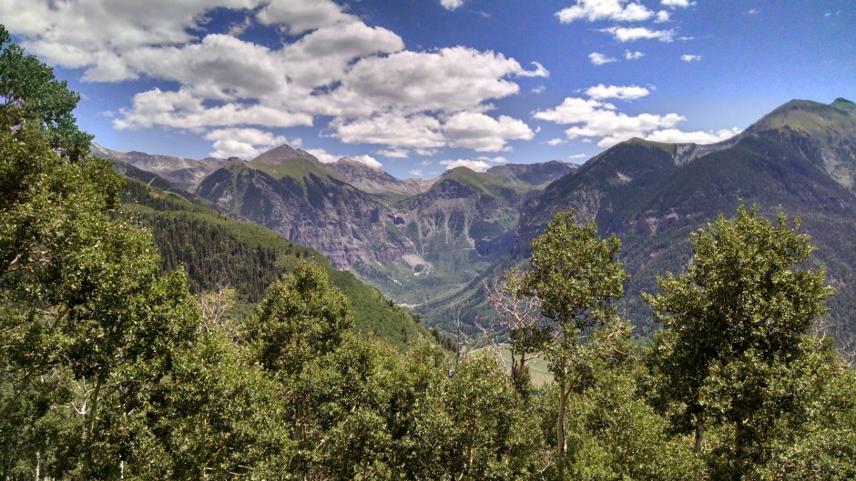 Box Canyon of Telluride viewed from the Jud Wiebe Trail