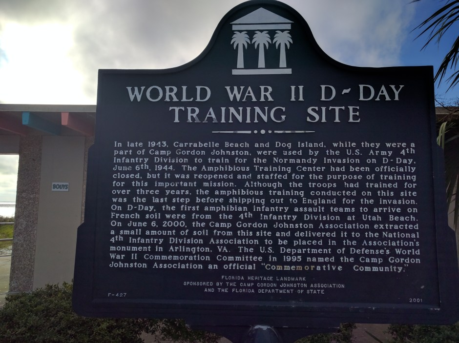 Historical Marker commemorating U.S. Army 4th Infantry Division from WWII