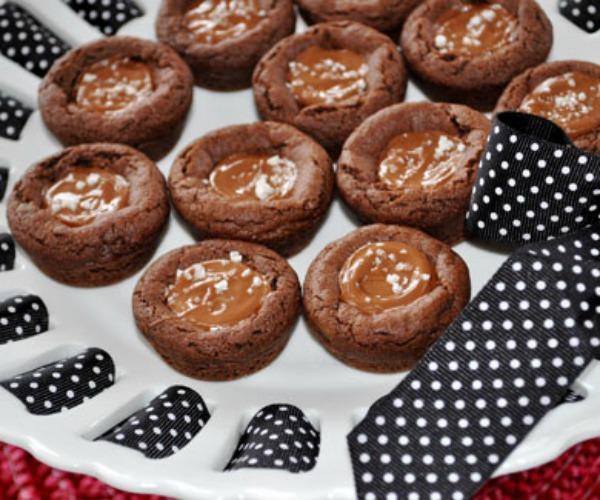 Salted Chocolate Espresso Caramel Cookies
