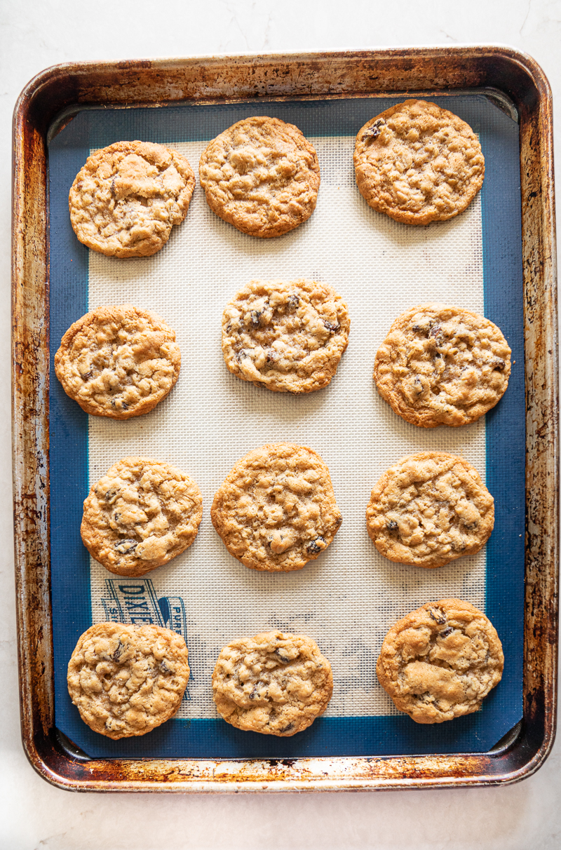 My tried-and-true high altitude recipe for oatmeal raisin cookies. It's a family favorite! www.mountainmamacooks.com