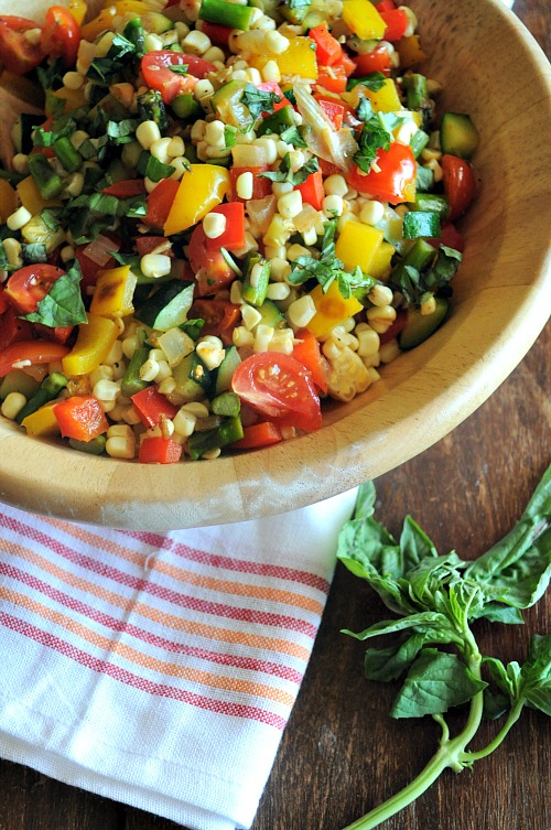 Summer Vegetable Saute by Mountain Mama Cooks