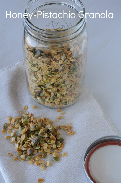 honey-pistachio granola