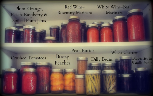 My canning cupboard, www.mountainmamacooks.com