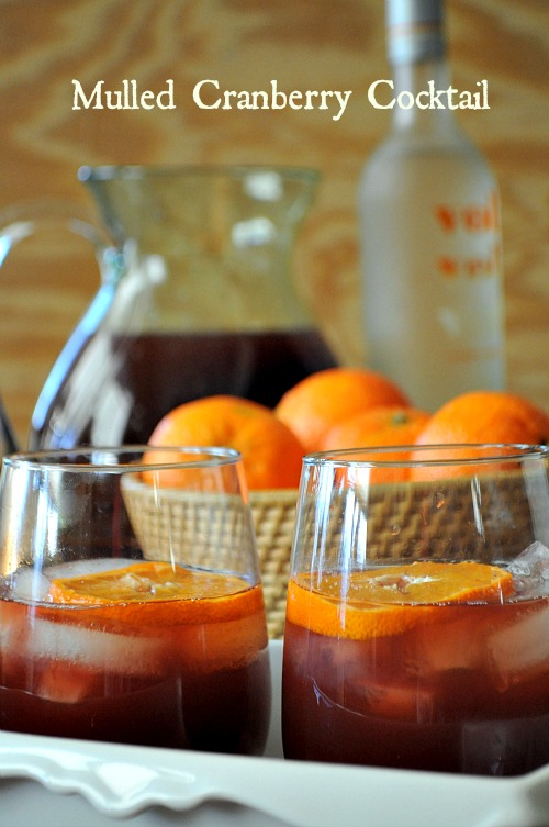 Mulled Cranberry Cocktail, www.mountainmamacooks.com