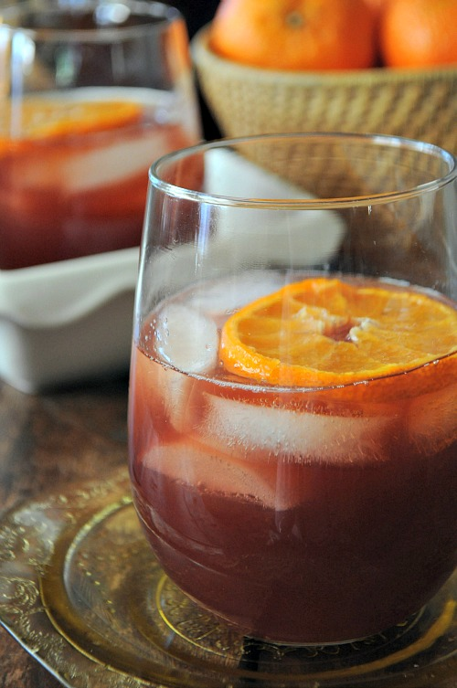 Mulled Cranberry Juice with Vanilla Vodka, www.mountainmamacooks.com