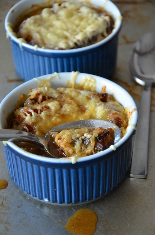 Crock Pot French Onion Soup, www.mountainmamacooks.com