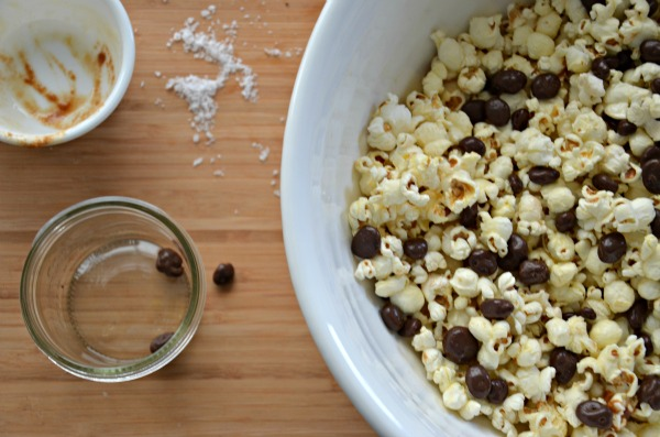 brown butter popcorn, chocolate and salt, www.mountainmamacooks.com