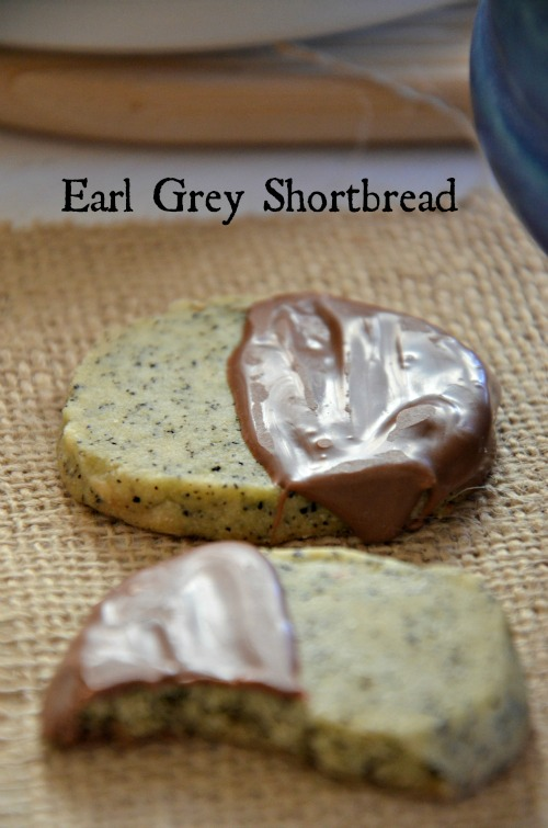 chocolate dipped earl grey shortbread cookies, www.mountainmamacooks.com