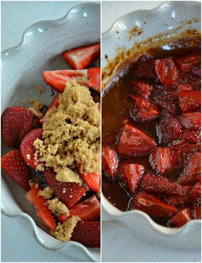 Balsamic Roasted Strawberries, www.mountainmamacooks.com