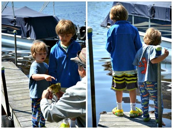 dock fishing, Canada Lake, NY www.mountainmamacooks.com