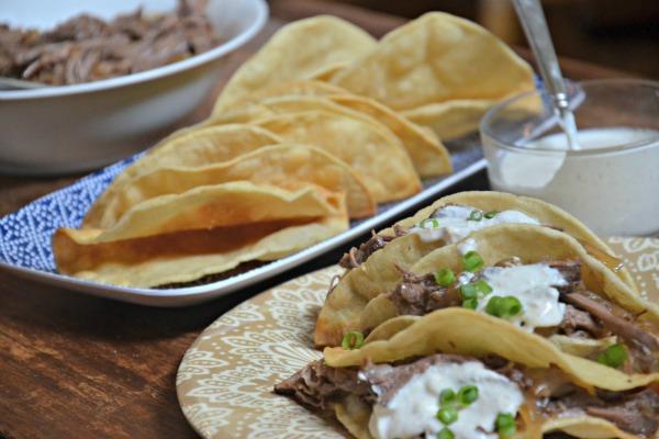 Pot Roast Tacos with Horseradish Crema, www.mountainmamacooks.com