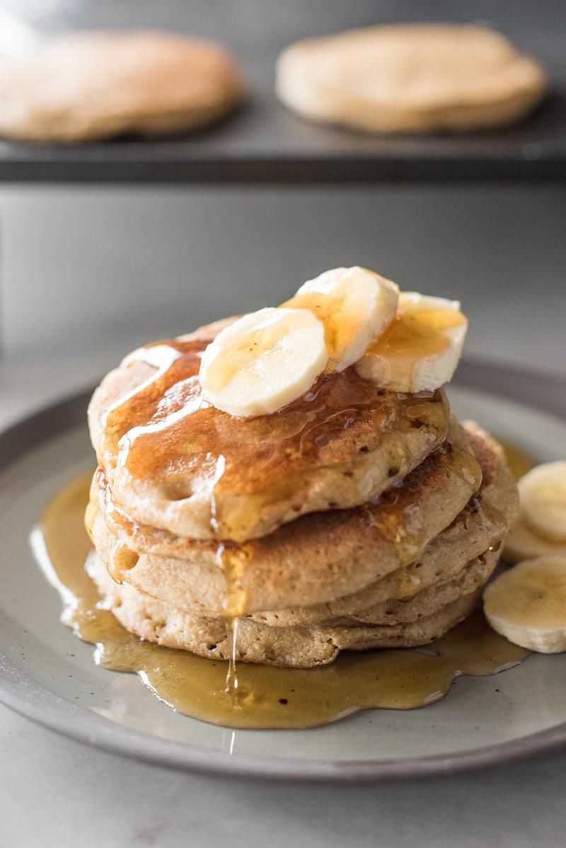 The Best Banana Oat Blender Pancakes Mountain Mama Cooks