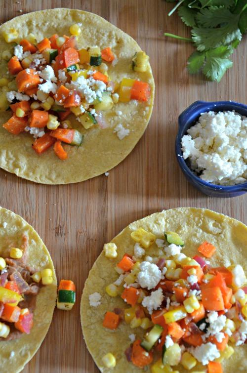 Easy Vegetarian Taco Recipe, www.mountainmamacooks.com