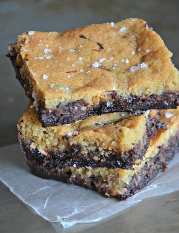 """Triple Chip Brownie + Cookie Bar """"Crownies"""", www.mountainmamacooks.com"""