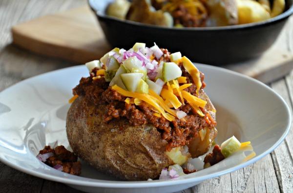 sloppy joe stuffed baked potatoes-2