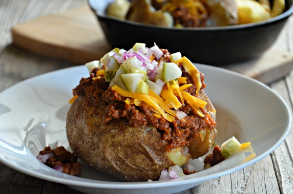 sloppy joe stuffed baked potatoes-2