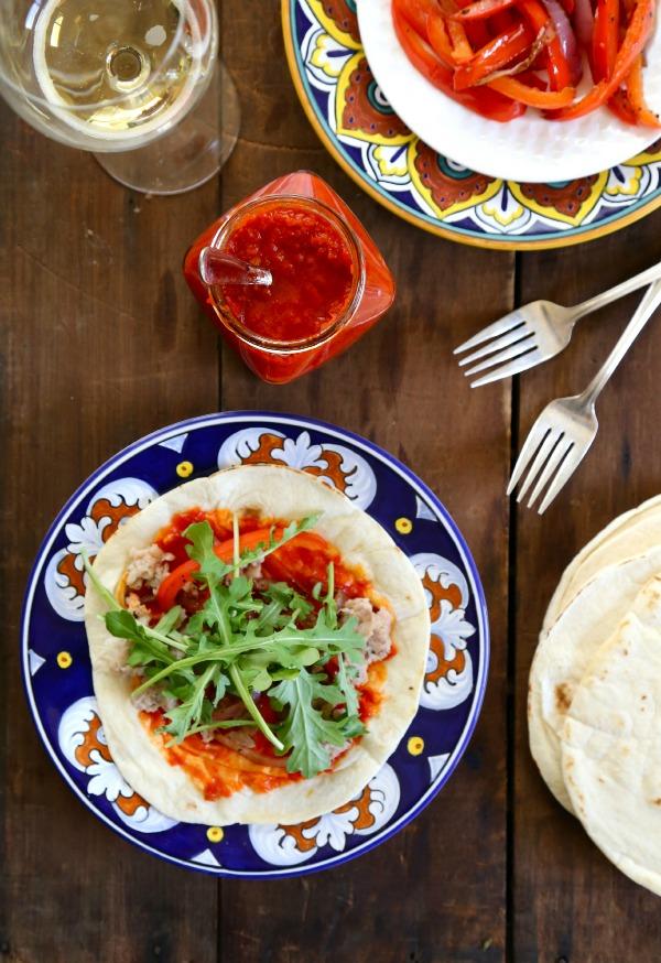 Moroccan Chicken Tacos with Harissa