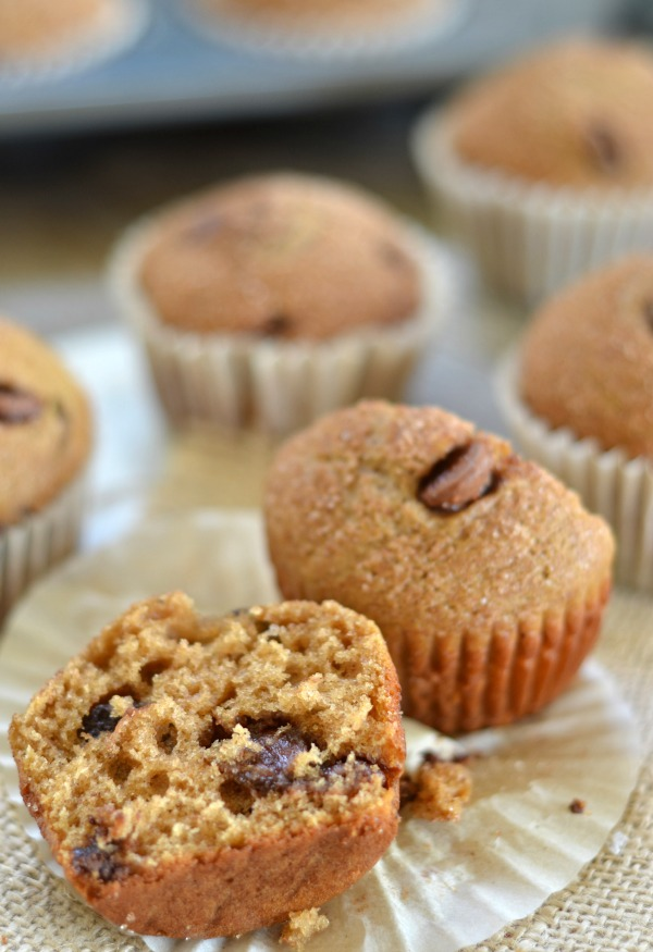 Chocolate Chip Snickerdoodle Muffins | mountainmamacooks.com #giveaway