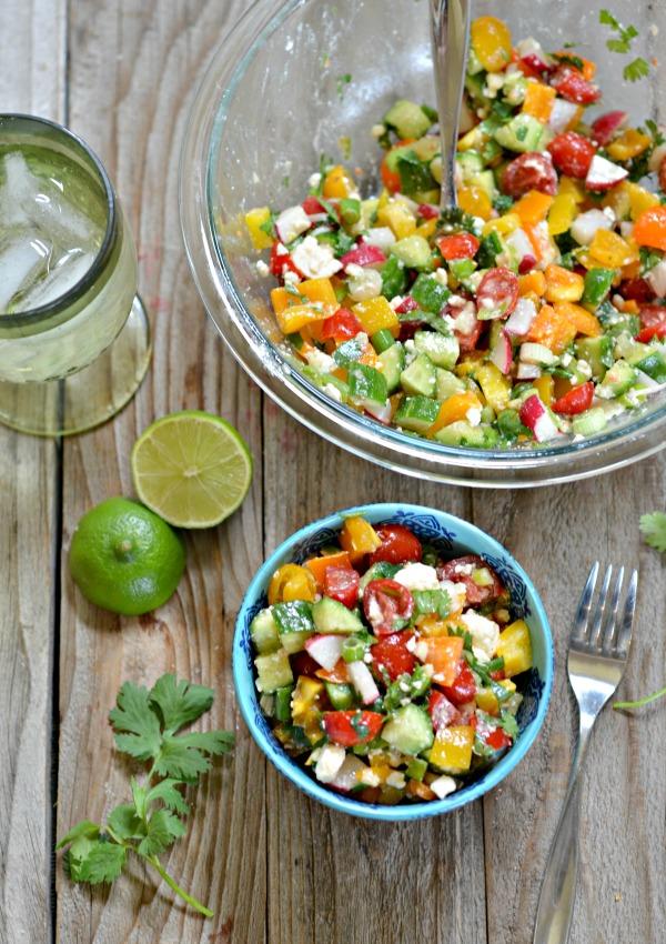 Chopped Salad with Cumin Lime Vinaigrette | mountainmamacooks.com