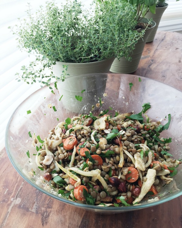 Lentil Salad with Roasted Fennel and Carrots | mountainmamacooks.com