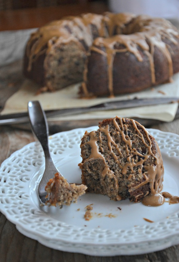 Espresso Brown Butter Banana Bundt Cake | mountainmamacooks.com