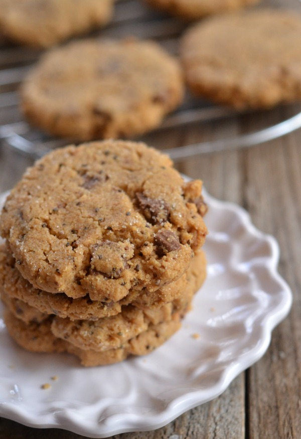 Cashew Butter Chocolate Chip Cookies | mountainmamacooks.com