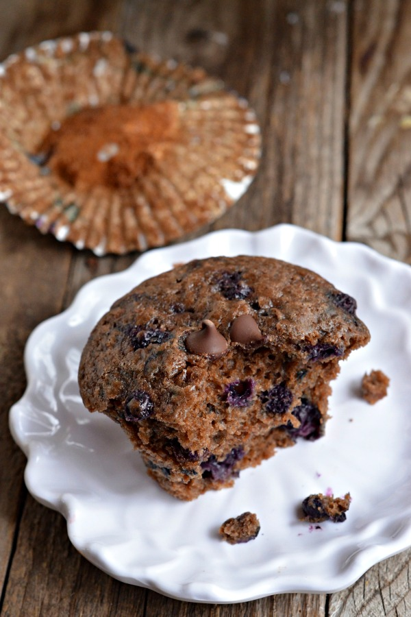 Chocolate Blueberry Muffins | mountainmamacooks.com