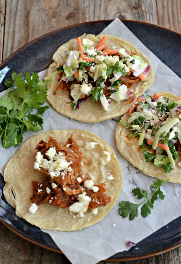 BBQ Pulled Pork Tacos | mountainmamacooks.com