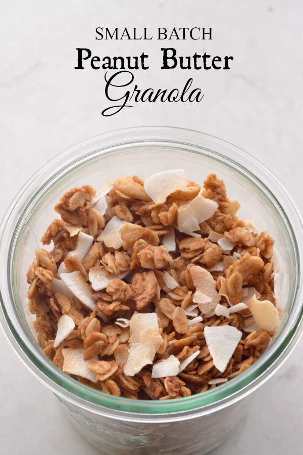 Small Batch Peanut Butter Granola | mountainmamacooks.com