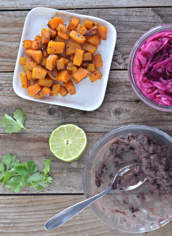 Butternut Squash & Black Bean Tostadas | mountainmamacooks.com