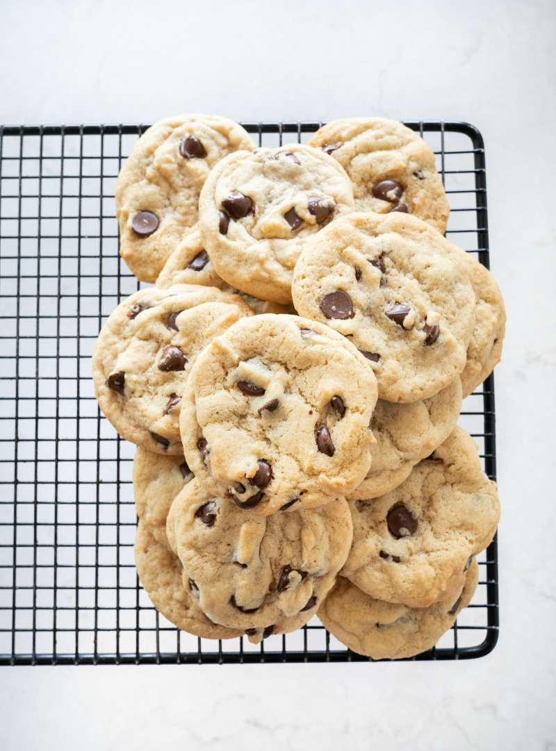 Perfectly Puffy Chocolate Chip Cookies - Mountain Mama Cooks