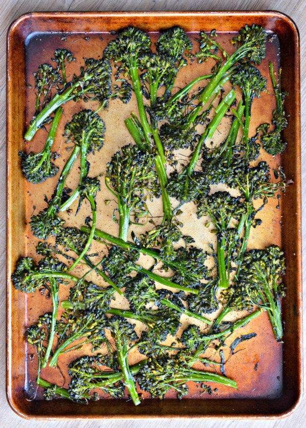Crispy Roasted Broccolini | mountainmamacooks.com
